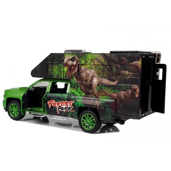 Inlea4Fun DINOSAUR WORLD Dinoszauruszos autó fény- és hanghatásokkal