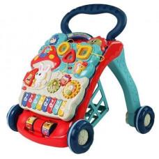 Készségfejlesztő járássegítő Inlea4Fun BABY WALKER - Kék/piros Előnézet