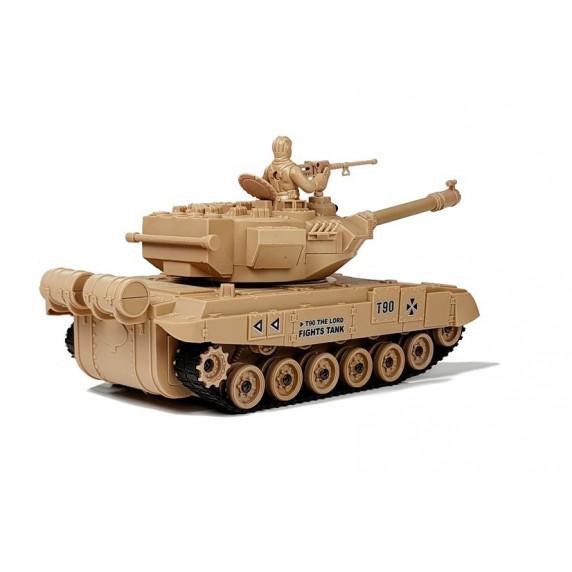 Inlea4Fun RC COMBAT ZONE T távirányítós tank- krémszínű