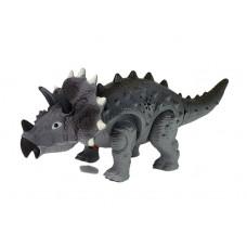 Lépegető, sétáló dinoszaurusz figura fény- és hangeffektekkel Inlea4Fun TRICERATOPS - szürke Előnézet