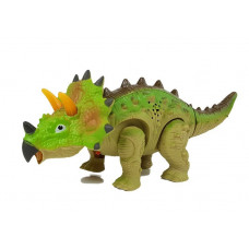 Inlea4Fun TRICERATOPS Lépegető, sétáló dinoszaurusz figura fény- és hangeffektekkel - zöld Előnézet