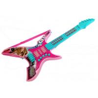 Elektromos játék gitár kislányoknak Inlea4Fun DELIGHT SOUNDS 62 cm - türkiz/rózsaszín