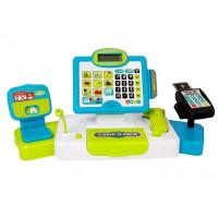 Pénztárgép kiegészítőkkel Inlea4Fun CASH REGISTER - kék/zöld