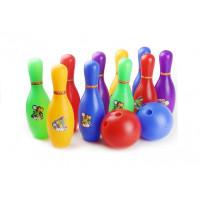 Bowling készlet 10 teke bábuval 2 golyóval Inlea4Fun ENERGESIS