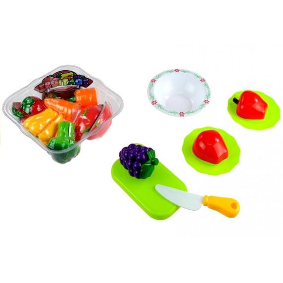 Inlea4Fun LIMA No.686 Szeletelhető zöldségek kosárral és mérleggel