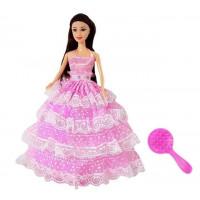 Hercegnő baba Inlea4Fun BIRTHDAY WISHES 28 cm - rózsaszín ruhás