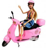 Játékbaba robogóval Inlea4Fun FASHION MOTORCYCLE