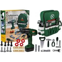 Szerszámos készlet zöld táskával Inlea4Fun CRAFTSMAN´S TOOL BOX