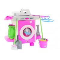 Játék mosógép kiegészítőkkel Polesie CARMEN 58843