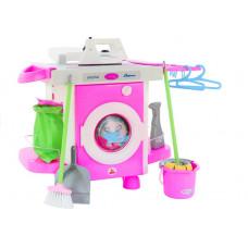 Játék mosógép kiegészítőkkel Polesie CARMEN 58843 Előnézet
