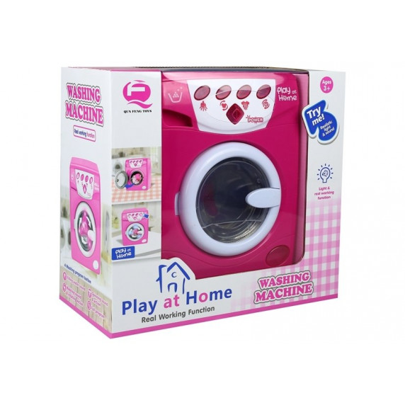 Játék mosógép Inlea4Fun PLAY AT HOME - rózsaszín
