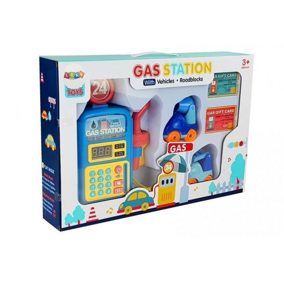 Interaktív játék benzinkút autóval Inlea4Fun GAS STATION