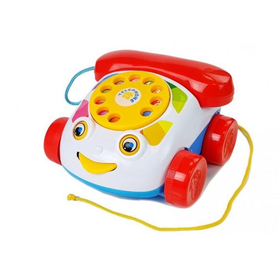 Játék telefon kerekekkel Inlea4Fun PUZZLE PHONE