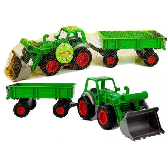 Játék traktor utánfutóval Inlea4Fun FARMER 8817