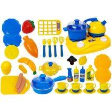 Inlea4Fun DREAM KITCHEN Játék konyhai edénykészlet kiegészítőkkel - kék/sárga Előnézet