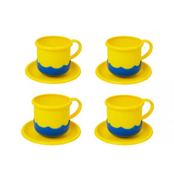 Játék konyhai edénykészlet kiegészítőkkel Inlea4Fun DREAM KITCHEN - kék/sárga