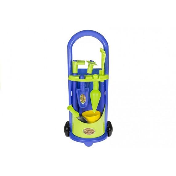 Húzható kertészeti kiskocsi szerszámokkal Inlea4Fun LITTLE GARDENERS