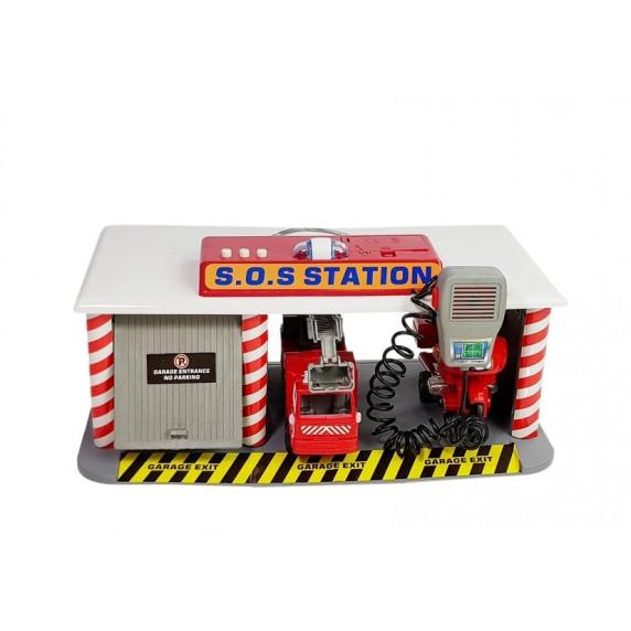 Tűzoltó állomás kiegészítőkkel Inlea4Fun SOS STATION