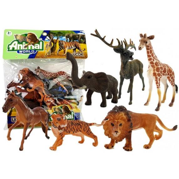 Állatfigurák 6 db Inlea4Fun ANIMAL WORLD Savannah