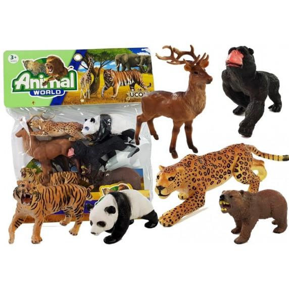 Állatfigura szett 6 darab Inlea4Fun ANIMAL WORLD