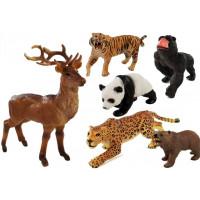 Inlea4Fun ANIMAL WORLD Állatfigura szett - 6 darab
