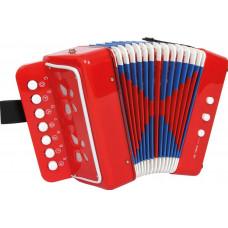 Inlea4Fun Gyerek harmonika - piros Előnézet