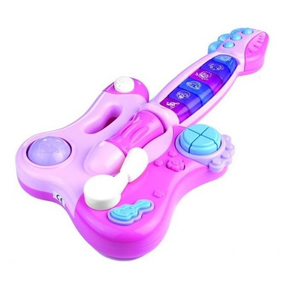 Interaktív játék gitár Inlea4Fun DINAMIC  - Rózsaszín