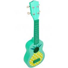 Inlea4Fun Játék ukulele ananász mintával - zöld Előnézet