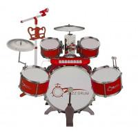 Játék dobfelszerelés billentyűzettel Inlea4Fun JAZZ DRUM - Piros