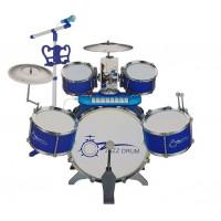 Játék dobfelszerelés billentyűzettelInlea4Fun JAZZ DRUM - Kék