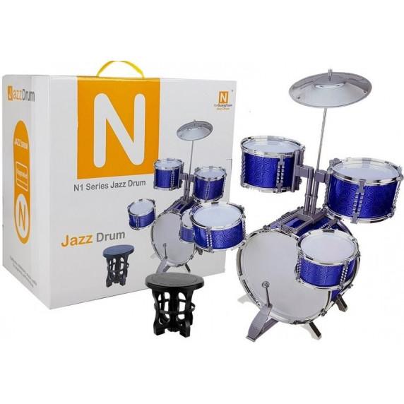 Játék dob felszerelés Inlea4Fun N1 SERIES JAZZ DRUM - kék