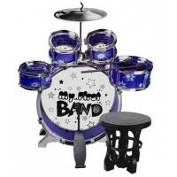 Játék dob felszerelés Inlea4Fun MY FIRST BAND - kék