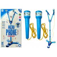 Karaoke állvány mikrofonnal Inlea4Fun MIKRO PHONE - kék