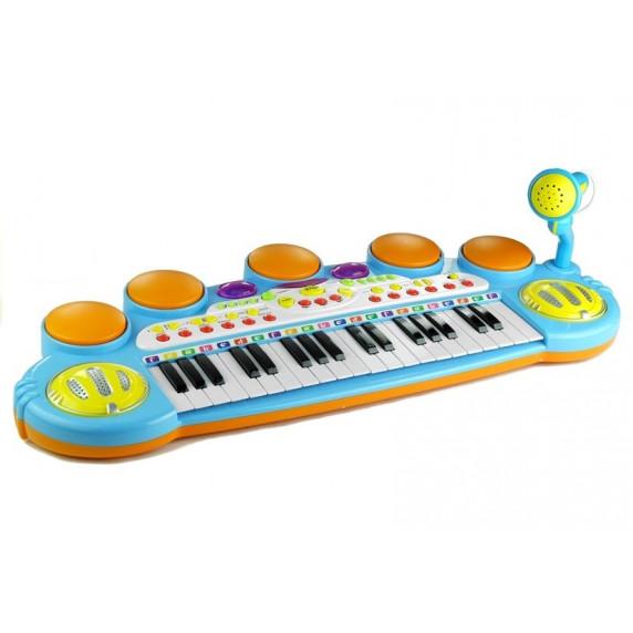 Elektronikus játék zongora Inlea4Fun LET THE CHILD - kék