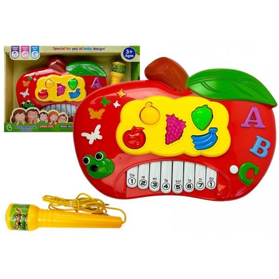 Elektronikus játék zongora Inlea4Fun MUSIC PIANO - alma