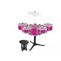 Inlea4Fun JAZZ DRUM Játék dobfelszerelés - rózsaszín
