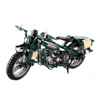 Harci motor építőkocka játék szett  II. világháborús Inlea4Fun DETECH