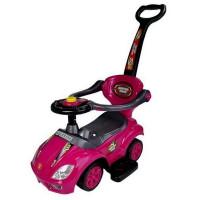 Inlea4Fun Lábbal hajtós gyermekjármű Super Ride 3 az 1-ben - rózsaszín