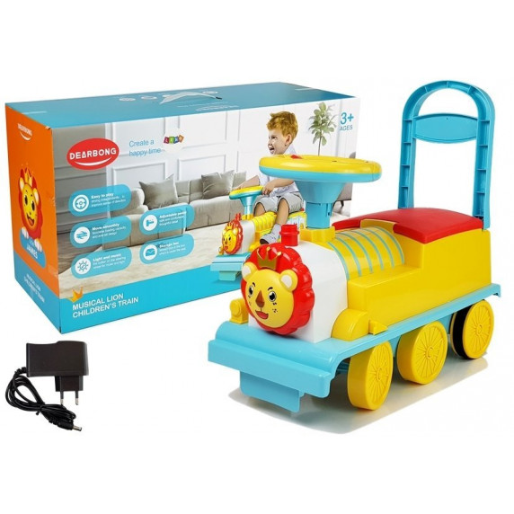 Elektromos mozdony gyerek jármű oroszlános Inlea4Fun DEARBONG