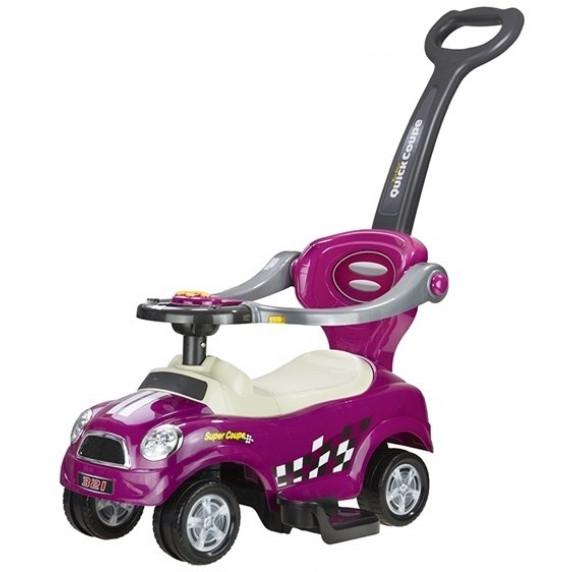 Lábbal hajtós gyermekjármű 3az1-ben Inlea4Fun COUPE - lila