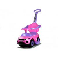 Inlea4Fun Lábbal hajtós gyermekjármű 614W 3 az 1-ben - rózsaszín