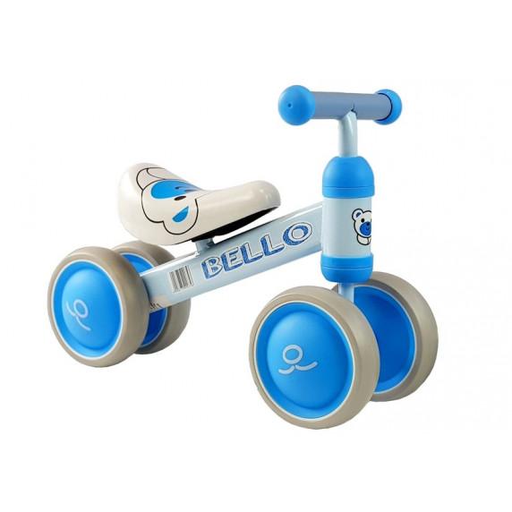 Inlea4Fun BELLO lábbal hajtós kismotor - kék