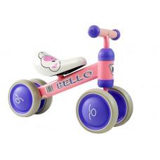Inlea4Fun BELLO lábbal hajtós kismotor - rózsaszín Előnézet