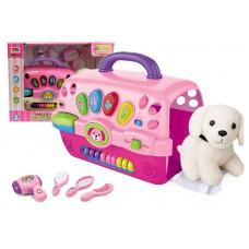 Inlea4Fun MUSIC PET HOUSE Kutya szépségszalon szett hordozóval - rózsaszín Előnézet