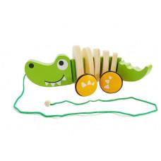 Húzható fajáték krokodil Inlea4Fun CARTOON ANIMALS Előnézet