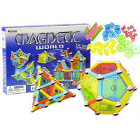 Mágneses építőjáték 110 db Inlea4Fun MAGNETIC WORLD