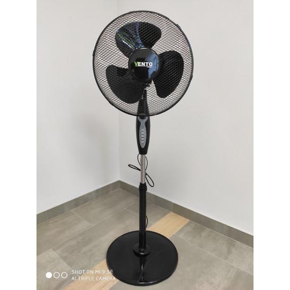 VENTO Otthoni álló ventilátor 40 cm 40W távirányítóval - Fekete