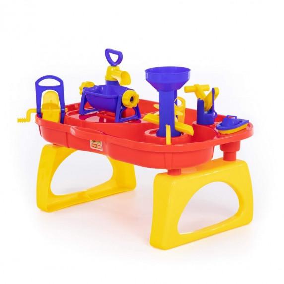 Vizes játékasztal Inlea4Fun BATH WORLD - sárga/piros