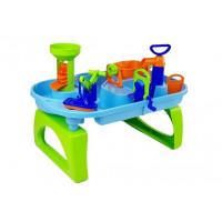 Vizes homokozó asztal Inlea4Fun WATER FUN - kék/zöld