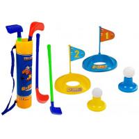 Gyerek golf szett kiegészítőkkel 2 személyes Inlea4Fun DELUXE GOLF